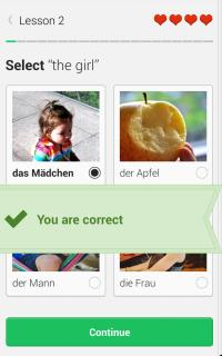 Duolingo offers a variety of activity types for practicing a language. Image source: Duolingo for Android. Click to view full size.