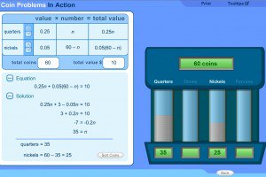 6 8 Grade Math Total Value with Coins