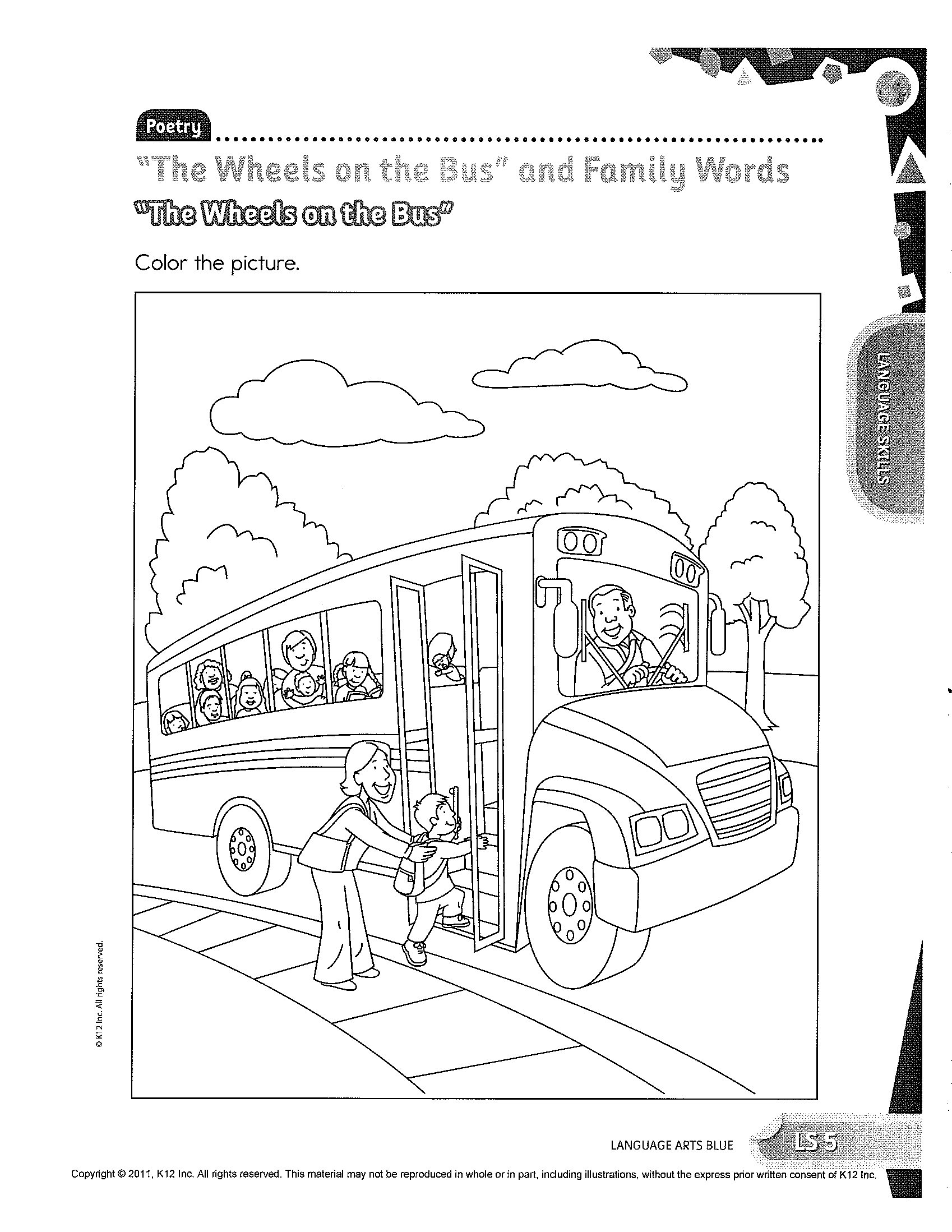 learning activity coloring pages learning liftoff