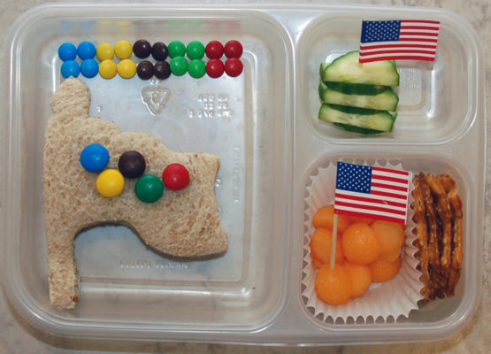 flag shaped food
