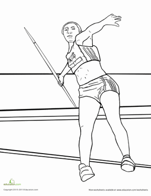 javelin image for coloring