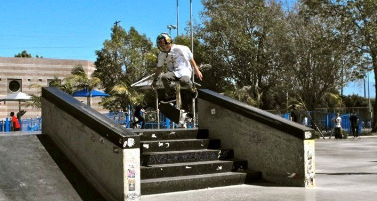 Online Student on His Way to a Skateboarding Career