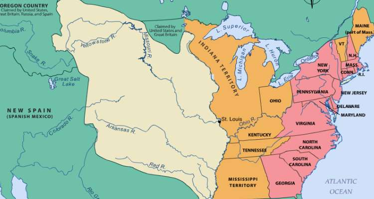 Thth Grade History Learning Activity Louisiana Purchase - Louisiana purchase and western exploration us history map activities