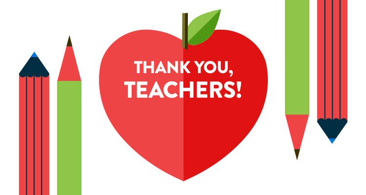 Teacher Appreciation Week is set aside to honor great teachers and educators around the country and thank them for helping ensure every student receives a quality education.