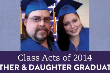 David, 41, and Jennifer, 18, are a pretty typical father daughter duo. Except for the fact that they're both part of a 2014 graduation.