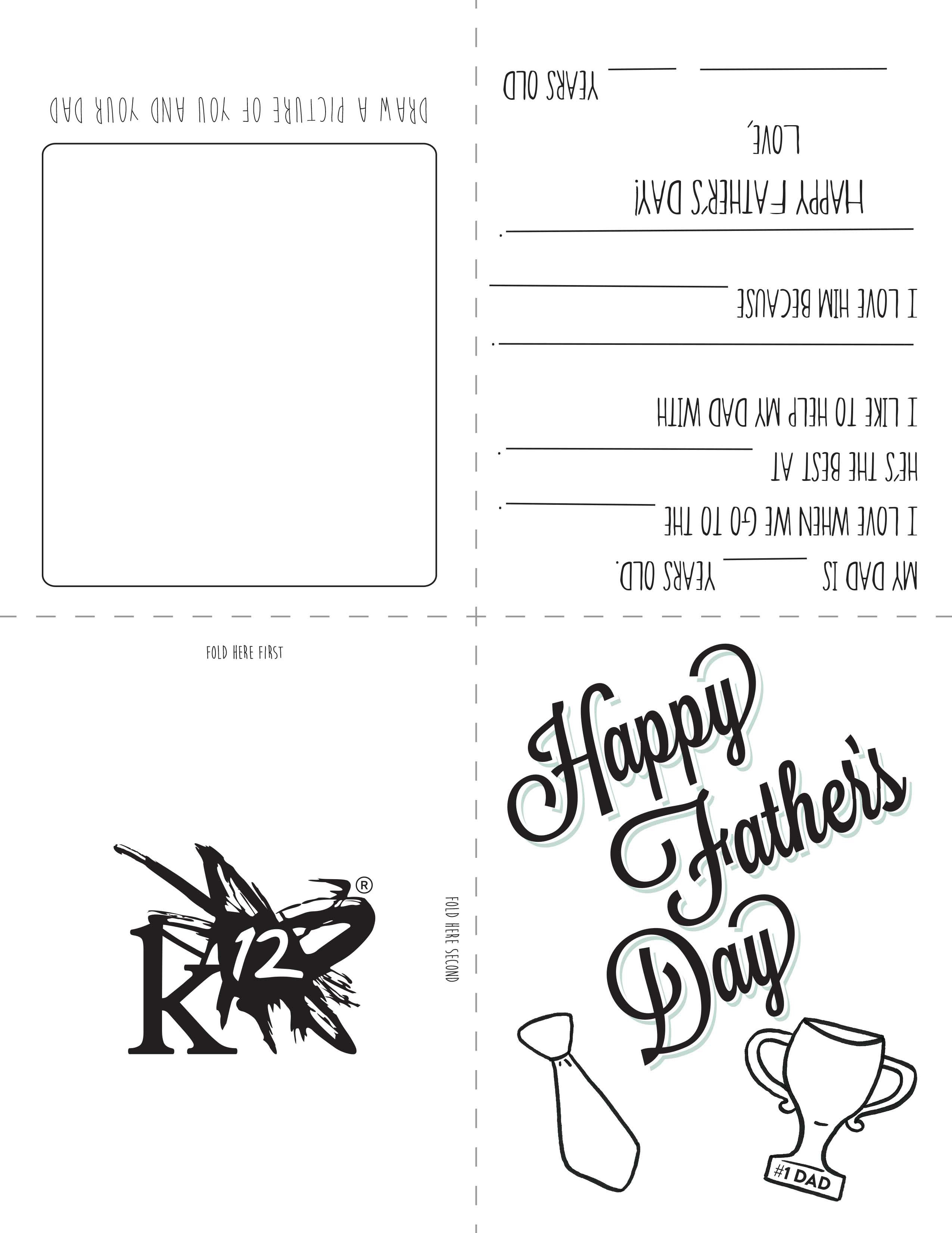 Printable Father's Day Card for Kids to Make - Learning ...