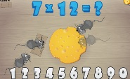 Math and Cheese is a simple, cute math game that has kids protecting their cheese from invading mice.