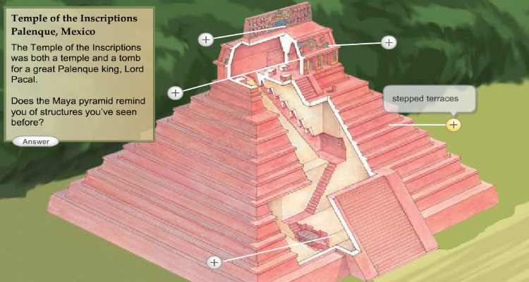 What did the mayan pyramids look like 10