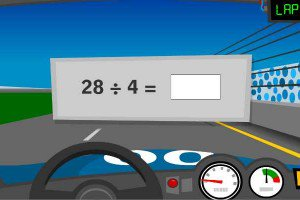 Race car math facts