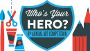 Kids' Art: Who's Your Hero?