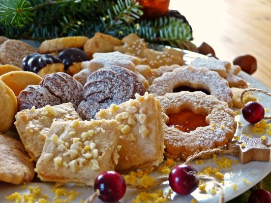 variety of christmas cookies on a plate