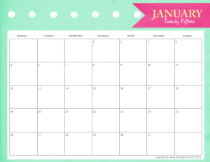 FREE Printable Calendars to Stay Organized in 2015 - Learning Liftoff