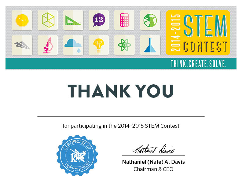 stem contest certificate winners participation announcing students learningliftoff