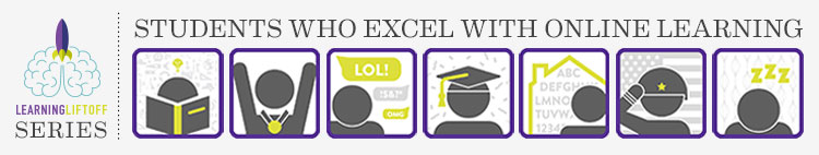 Read more about students who excel with online learning
