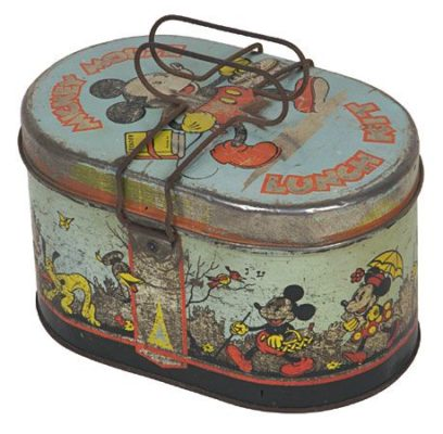 original mickey mouse tin lunch box