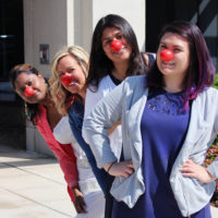 K12 Staff wearing Red Noses