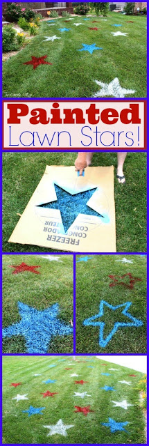 Fourth of July Decor Painted Lawn Stars 5
