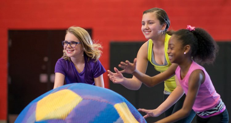 Kids Playing in Physical Education Class