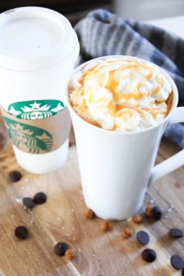 Copycat Starbucks Salted Caramel Hot Chocolate