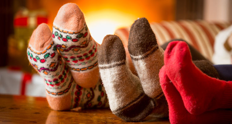 cozy family socks