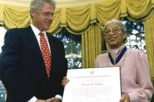 Bill Clinton and Rosa Parks