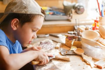boy crafter wood