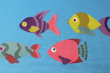 papercut fish underwater