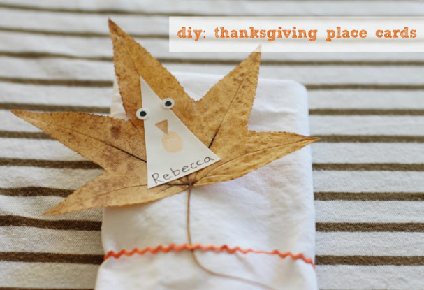 Pressed Leaves Place Cards