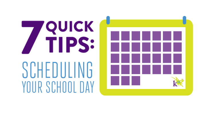 7 quick tips  scheduling your school day
