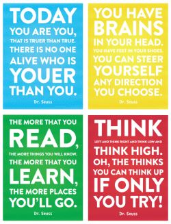 image regarding Printable Dr Seuss Quotes identify The 15 Simplest Dr. Seuss Guide Offers and the Daily life Classes We