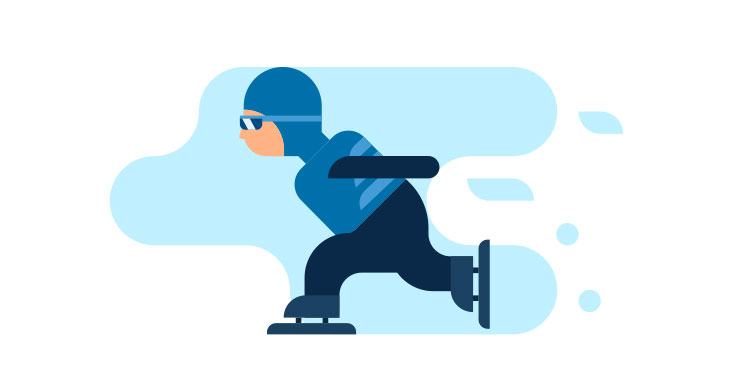 speed skating illustration