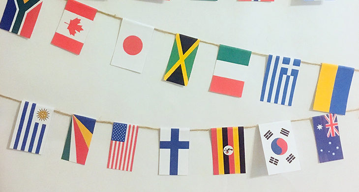 paper flags for Olympics
