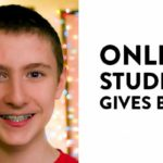 online student gives back