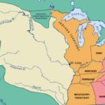 Map showing the Louisiana Purchase