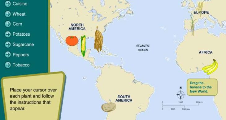 Map Of North America For 4th Grade.4th 5th Grade World History Learning Activity Origins Of Plants