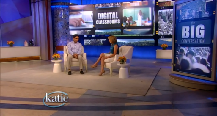 Katie Couric discusses the free online education platform, Khan Academy, with Founder and Executive Director, Salman Khan.
