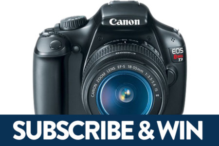 Enter our subscription sweepstakes for your chance to win a Canon EOS Rebel T3 with accessories, and learn through a lens.