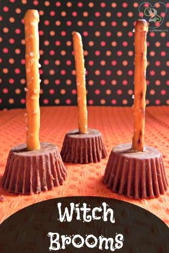 Halloween Treats: Peanut Butter Cup Witch Brooms