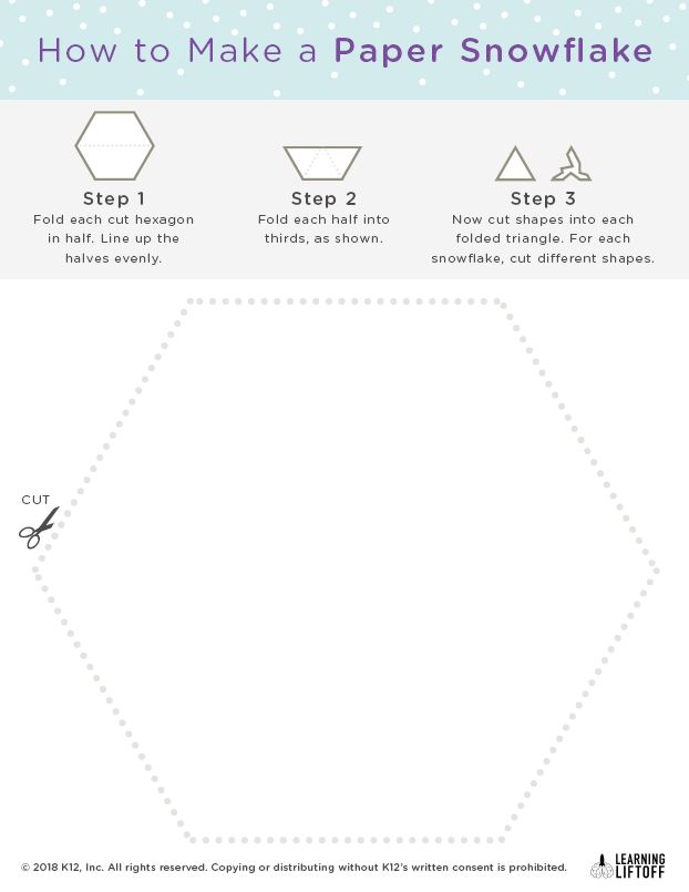 Make paper snowflakes with this snowflake template learning liftoff snowflake activity maxwellsz