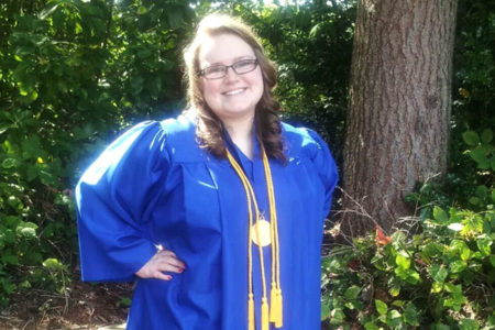 Online education allowed Hannah to work with her impairments, and was able to graduate early thanks to the individualized learning provided.