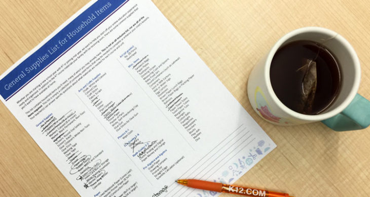 Use this school supplies list as a guideline for the types of items your student may need during the school year. Your teacher will let you know if any specific items are needed for the school year.
