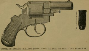 Presidents Day Fun Facts - A rendering of the pistol that Guiteau's used to shoot Andrew Garfield.