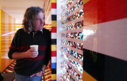 James May in his LEGO house