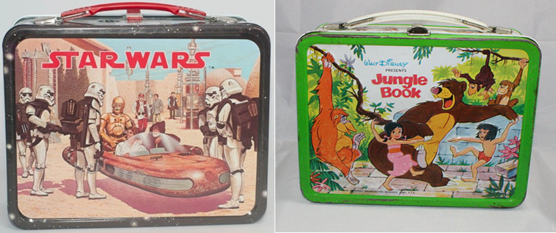 star wars jungle book tin lunch boxes