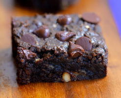 Healthy Chocolate Chip Brownie