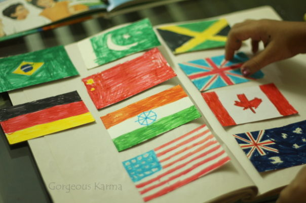 Flags of the world craft project