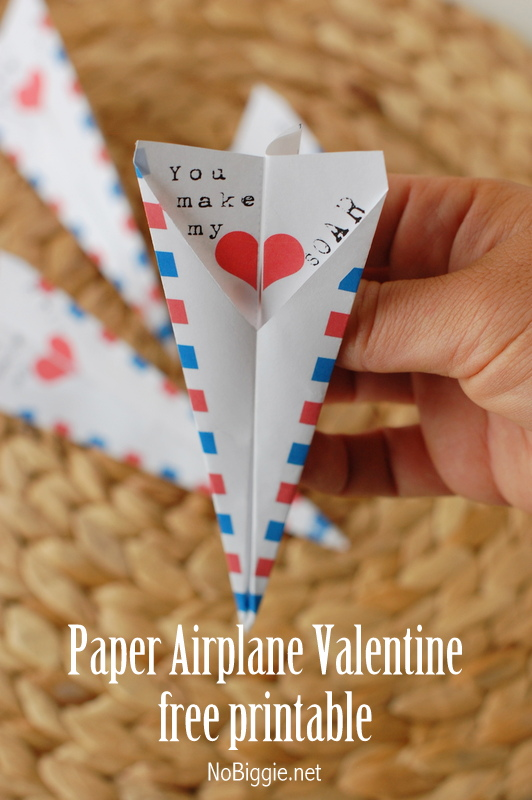 paper airplane with Happy Valentine's Day message