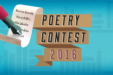 Let your favorite fictional literary character be your guide in our 2016 Poetry Contest in honor of National Poetry Month.