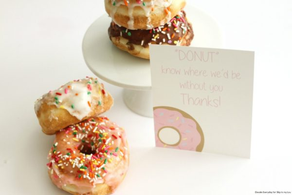 Donuts with Card for a Teacher