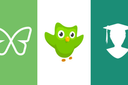 Freedom logo, Duolingo logo, and My Study Life logo